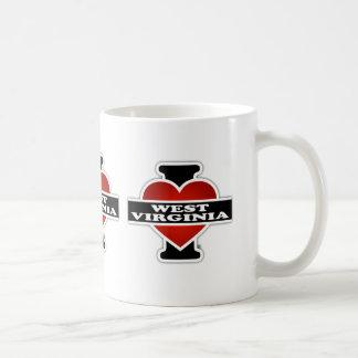 I Heart West Virginia Classic White Coffee Mug