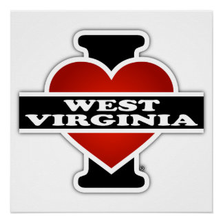 I Heart West Virginia Poster