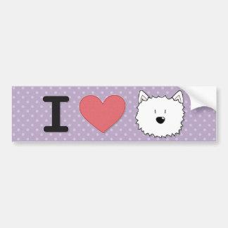 I (heart) westies bumper sticker