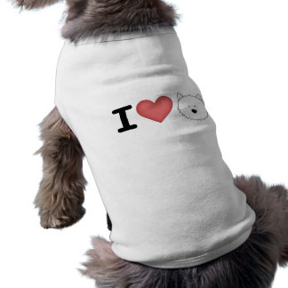 I (heart) westies dog clothes