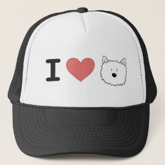 I (heart) westies trucker hat