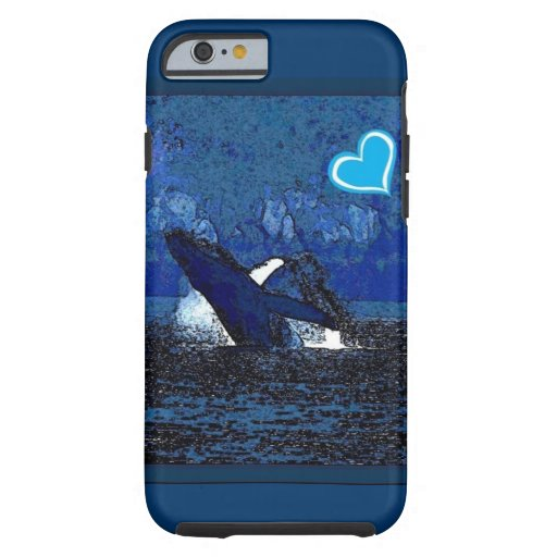I heart Whales a treasure in blue iPhone 6 case