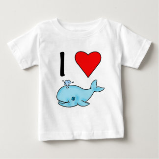 I Heart Whales I Love Whales Baby T-Shirt