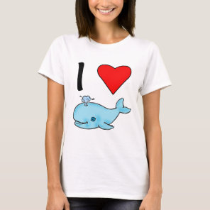 I Heart Whales I Love Whales T-Shirt
