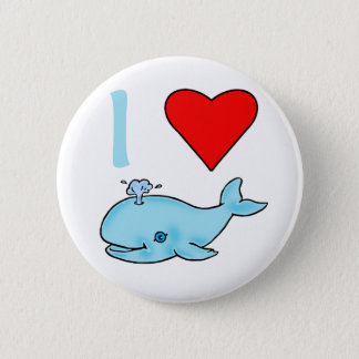 I Heart Whales Products Button