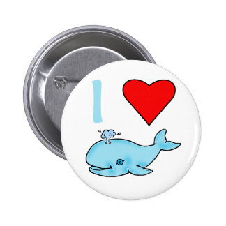 I Heart Whales Products Pinback Button