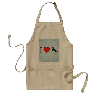 I Heart When Horse Is Standing On Back Paws Adult Apron