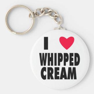 i heart WHIPPED CREAM Keychain
