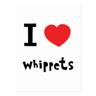 I Heart Whippets Facebook I heart Whippets Postcard