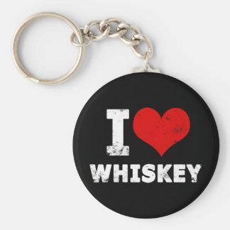 I Heart Whiskey Keychain