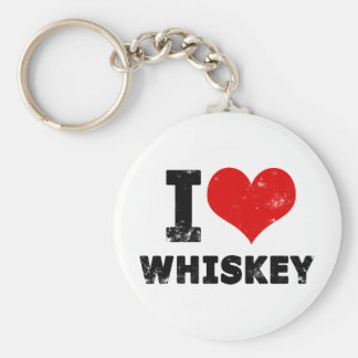 I Heart Whiskey Key Chains