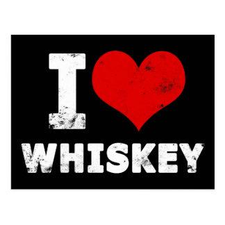 I Heart Whiskey Postcard