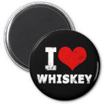 I Heart Whiskey Refrigerator Magnets