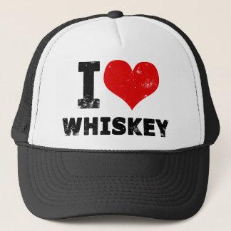 I Heart Whiskey Trucker Hat