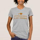 I (heart) Whistleblowers and War Resisters Tee Shirt