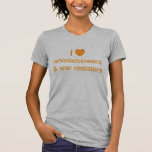 I (heart) Whistleblowers and War Resisters Tshirts