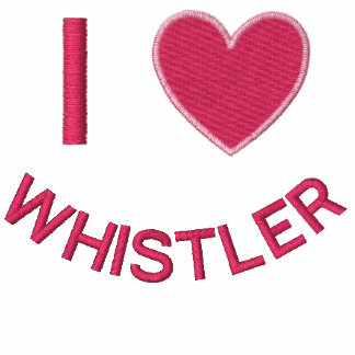 I HEART WHISTLER BC EMBROIDERED HOODED SWEATSHIRTS