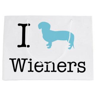I Heart Wieners Large Gift Bag