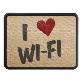 I Heart WiFi Burlap Hitch Cover
