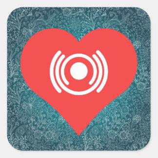 I Heart Wifi Routers Icon Square Sticker