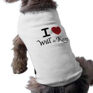I heart Will and Kate Dog T-Shirt