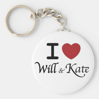 I heart Will and Kate Keychain