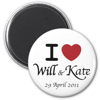I heart William and Kate Royal Wedding Magnet