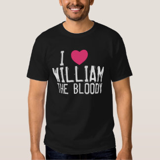 I heart William dark tshirt