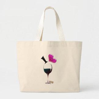 I Heart Wine Tote Bags