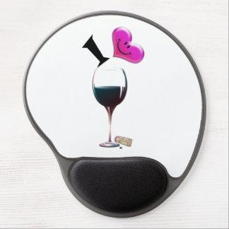 I Heart Wine Gel Mouspad Gel Mouse Pad