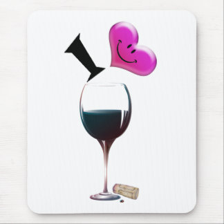 I Heart Wine Mouse Pad