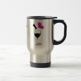 I Heart Wine 15 Oz Stainless Steel Travel Mug