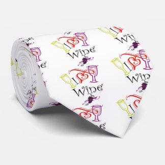 I Heart Wine Neck Tie