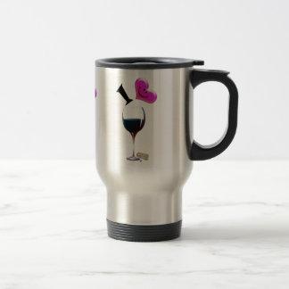 I Heart Wine Travel Mug