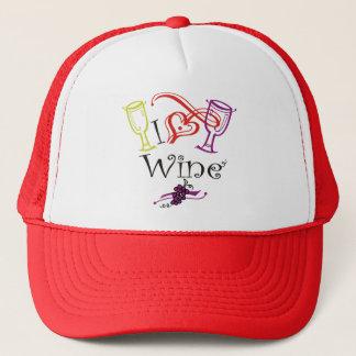 I Heart Wine Trucker Hat