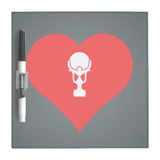 I Heart Winning Icon Dry Erase Whiteboards