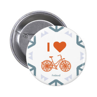 I Heart Winter Biking - Large Pin