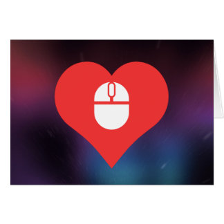 I Heart Wireless Mouse Icon Greeting Card