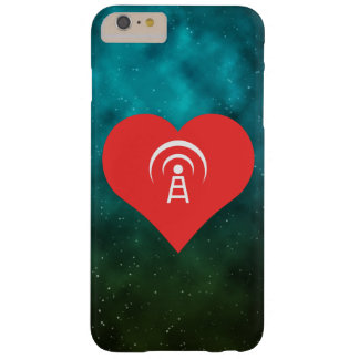 I Heart Wireless Towers Vector Barely There iPhone 6 Plus Case