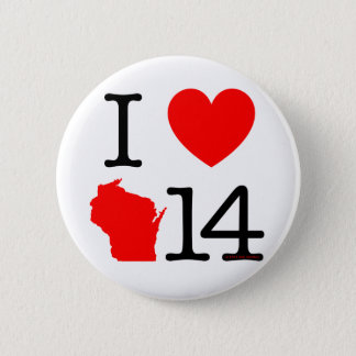 I Heart Wisconsin 14 Button