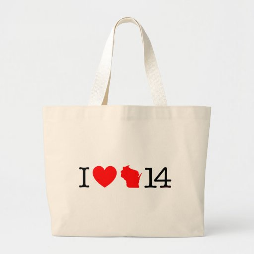 I Heart Wisconsin 14 Canvas Bags