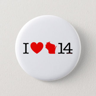 I Heart Wisconsin 14 Pinback Button