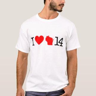 I Heart Wisconsin 14 T-Shirt