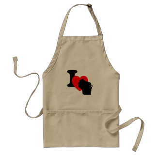 I Heart Wisconsin Adult Apron