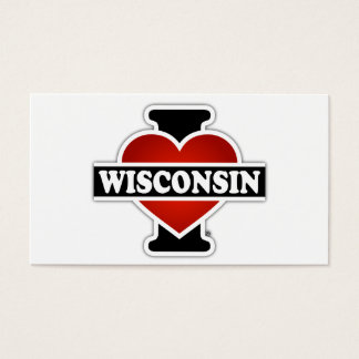 I Heart Wisconsin Business Card