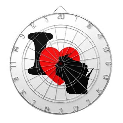 I Heart Wisconsin Dartboard : Zazzle