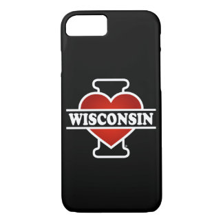 I Heart Wisconsin iPhone 8/7 Case