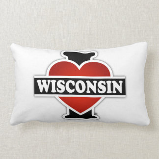 I Heart Wisconsin Lumbar Pillow