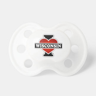 I Heart Wisconsin Pacifier