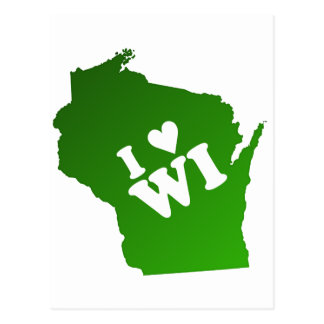 I Heart Wisconsin Post Cards